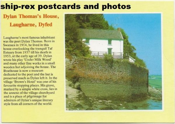 Laugharne, Dylan Thomas's House, postcard